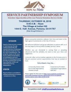 Service Partnership Symposium - Pomona Homeless Service Center @ The Village at Indian Hill | Pomona | California | United States