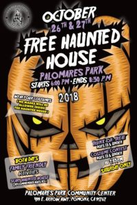 Free Haunted House at Palomares Park @ Palomares Park Community Center | Pomona | California | United States