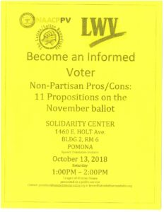 NAACP Informed Voter Event @ Solidarity Center  | Pomona | California | United States