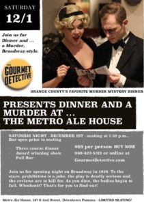 Murder Mystery at the Metro Ale House @ Metro Ale House & Grill | Pomona | California | United States