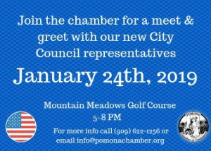 City Council Meet & Greet @ Mountain Meadows Golf Course