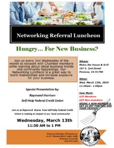 March Networking Luncheon @ Metro Ale house & Grill