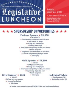 Legislative Luncheon @ The Double Tree by Hilton, Pomona