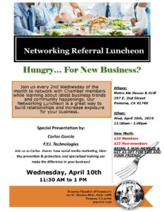 Networking Referral Luncheon @ Metro Ale house & Grill
