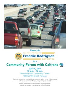 Community Forum with Caltrans @ Westmont Park Community Center