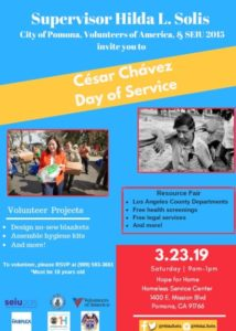 Cesar Chavez Day of Service @ Homeless Service Center
