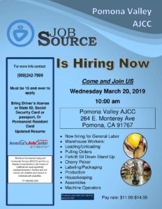 Pomona Valley AJCC Job Source @ Pomona Valley AJCC