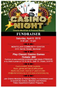 Casino Night @ Montclair Community Center