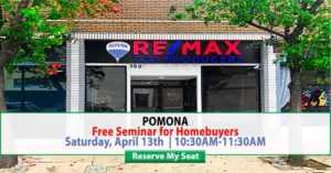 Free Seminar for Homebuyers @ Re/Max Top Producers