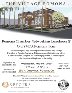 Pomona Chamber Networking Luncheon & Old YMCA Pomona Tour @ YMCA