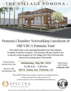 Pomona Chamber Networking Luncheon & Old YMCA Pomona Tour @ YMCA