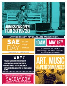 Admissions Open For 19/20 @ The School of Arts and Enterprise
