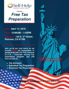 Self -Help Federal Credit Union Free Tax Preparation