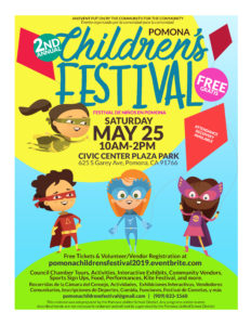 Pomona 2nd Annual Children's Festival @ Civic Center Plaza