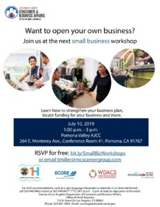 Los Angeles County Consumer & Business Affairs Small Business Workshop