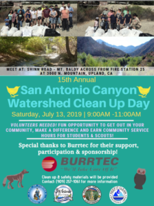 San Antonio Canyon Watershed Clean Up Day