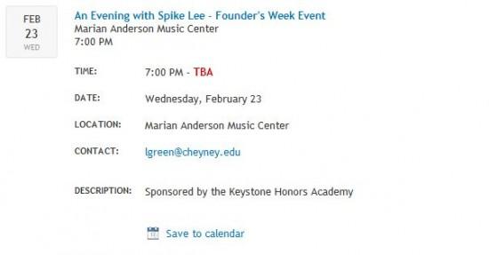 Spike lee calendar