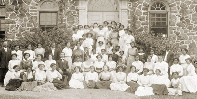 The oldest HBCUs: Cheyney University students pictured from the early 1800s. Cheyney is one of the first five Historically Balck Colleges established in the Nation.
