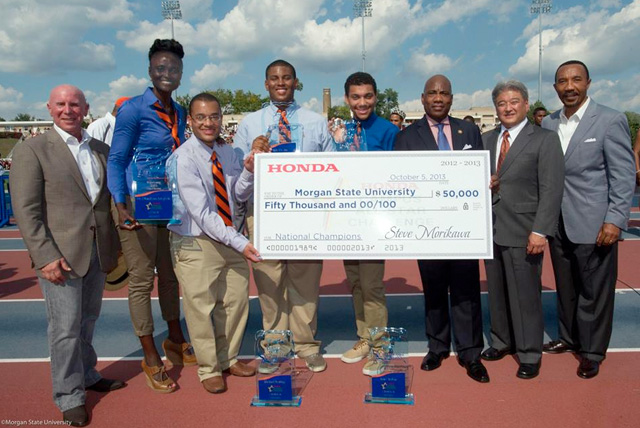 HCASC Grant presentation to the 2013 National Champions atat Morgan State Homecoming.