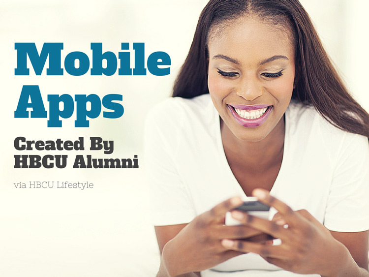 Beautiful young African American woman uses a mobile App on smart phone.