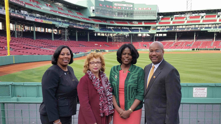 Press conference announcing the Historically Black Colleges and Universities Legacy Weekend Celebration in Boston.