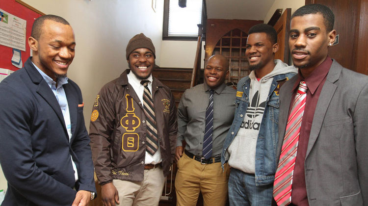Members of Iota Phi Theta Fraternity of Kean University