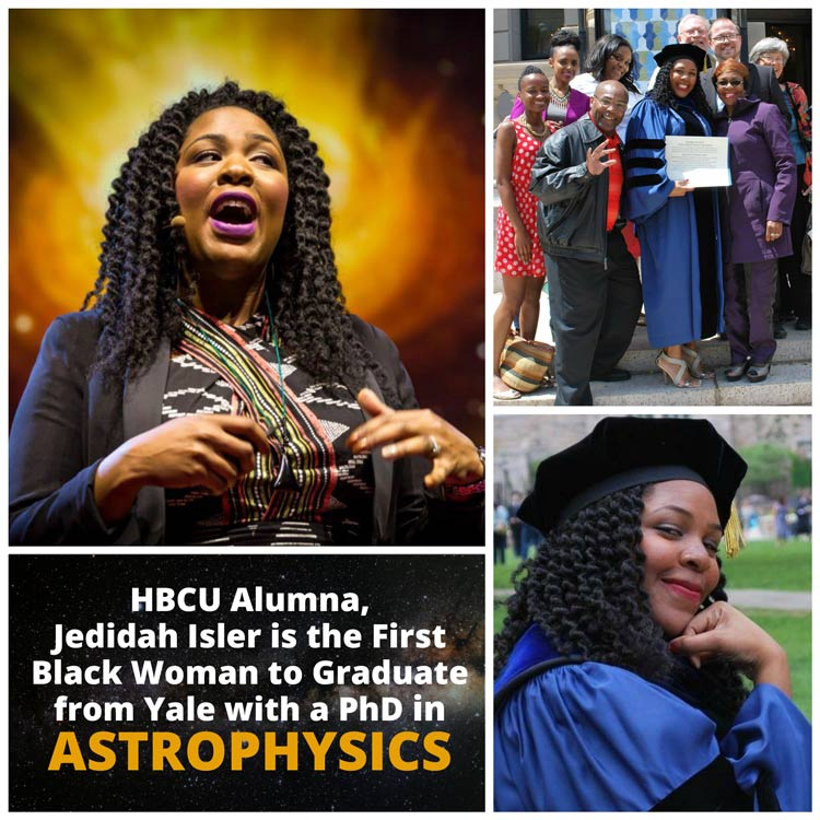 Jedidah C. Isler is the first Black Woman to Graduate from Yale with a PhD in Astrophysics