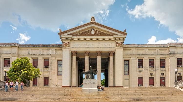 The University of Havana located in the Vedado district of Havana, Cuba.
