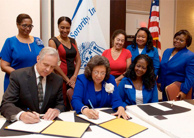 Zeta Phi Beta Sorority, Inc. and U.S. Fish and Wildlife Service Sign Historic Agreement