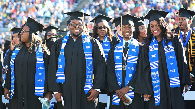Spring 2015 Graduating Class at Jackson State University.