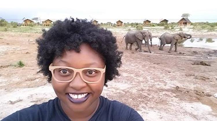 Kenyatta Spiller in Botswana, Africa