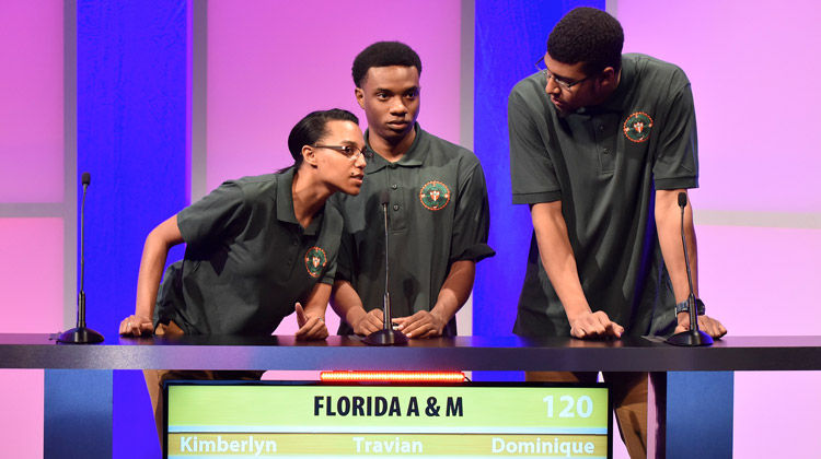 The team from Florida A&M University competing in the 27th Honda Campus All-Star Challenge (HCASC) National Championship .