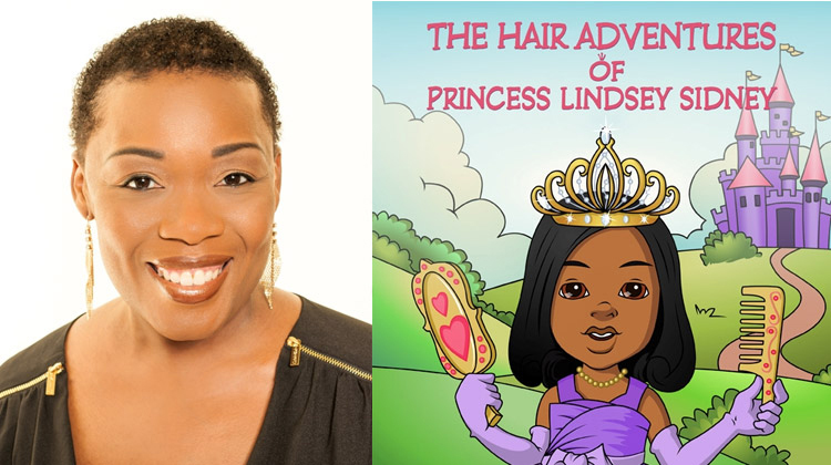 Author Eartha Dunston and her book The Hair Adventures of Princess Lindsey Sidney
