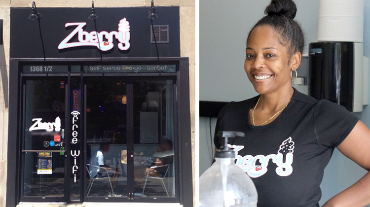 Zenzile Powell, owner of Zberry Frozen Yogurt & Treats.