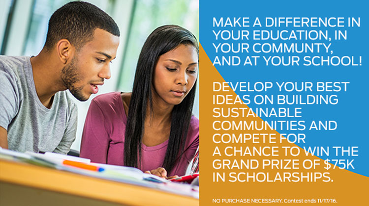 The Ford HBCU Community Challenge is a providing a chance for you to win the grand prize of $75,000 in scholarships.