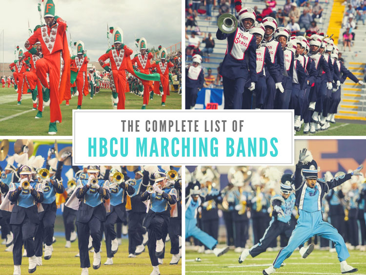 HBCU Bands: The Marching 100, Aristocrat of Bands, The Human Jukebox, and the Sonic Boom of the South.