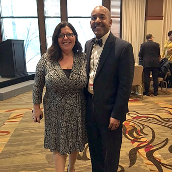 Larry J. Walker and Marybeth Gasman at the National Convening on Success in Teacher Education Programs at MSIs.