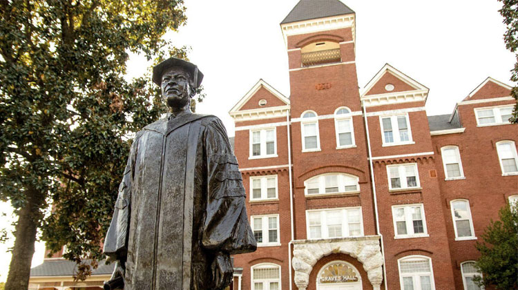 Graves Hall was established in 1889 and it was the first building constructed on the campus of Morehouse College.