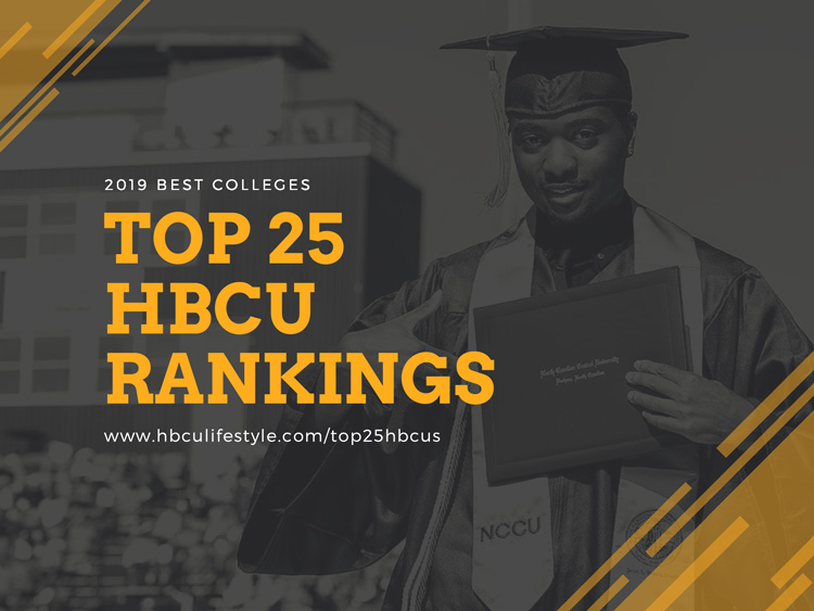 HBCU Rankings 2019: North Carolina Central University graduate points to his degree during an NCCU commencement ceremony.