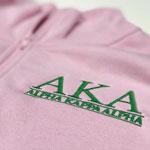 Alpha Kappa Alpha Embroidered Quarter-zip Sweatshirt