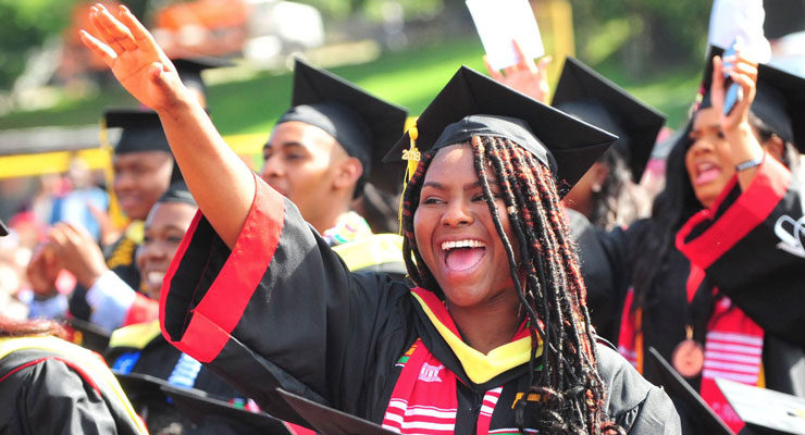Clark Atlanta University Graduate Celebrating at Commencement