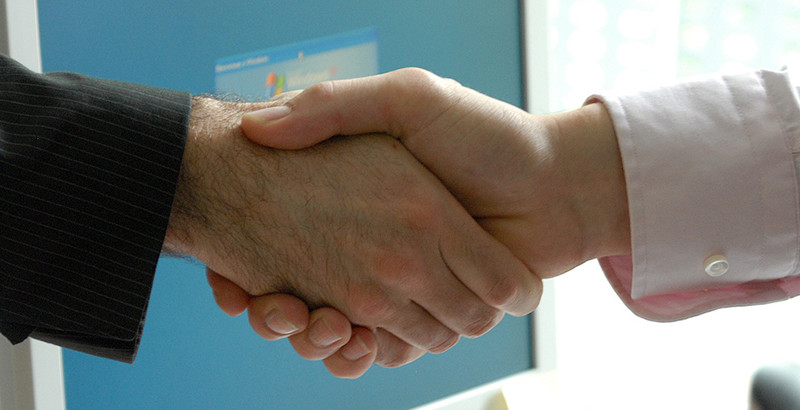 shaking hands photograph