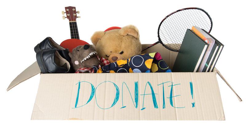 Box full of donated items