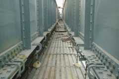 January 2020 - A view of the recently painted steel structural members of the bridge.