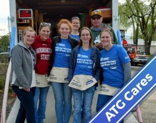 ATG Volunteers during Habitat for Humanity's National Women's Build Week