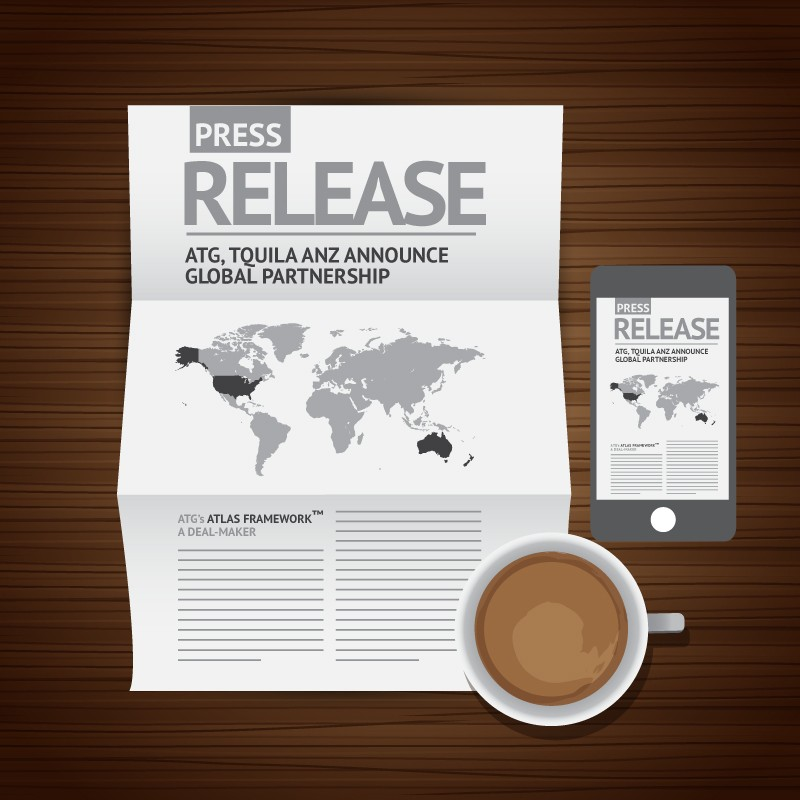 press release atg forms strategic partnership with Australia's Tquila ANZ