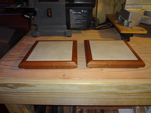 Custom Wood Framed Ceramic Tile Trivet