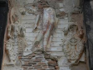 Thai sculpture on Wat Traphang Thong Lang, Sukhothai.
