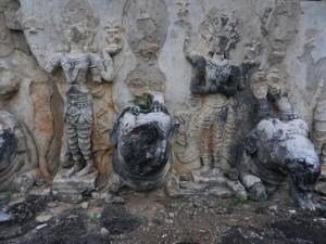 Thai sculpture around Chedi Si Hong, Sukhothai.