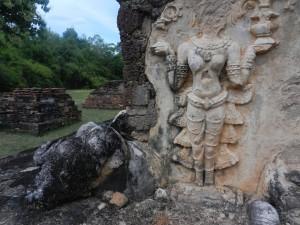 Thai sculpture at Wat Chedi Si Hong, Sukhothai, Thailand.